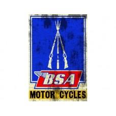 BSA Motor Cycle Rifles tin metal sign