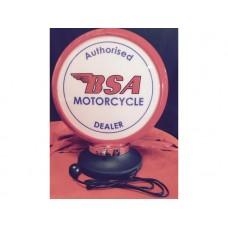 Petrol Bowser Globe and Base BSA Motorcycle illuminated sign