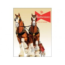 Bud Clydesdale Team tin metal sign