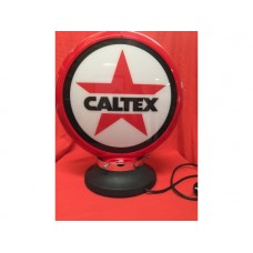 Petrol Bowser Globe and Base Caltex illuminated sign