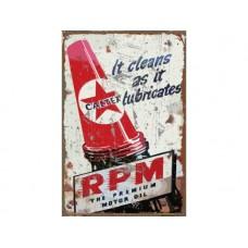 Caltex RPM Rectangle tin metal sign