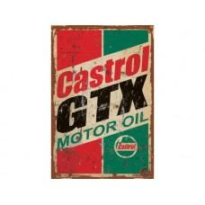 Castrol GTX tin metal sign