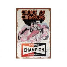 Champion Dragster large tin metal sign