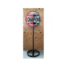 Champion Lollypop Stand tin metal sign