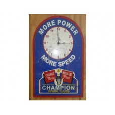 Champion Spark Plug Clock tin metal sign