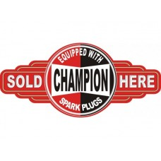 Champion Service Station tin metal sign