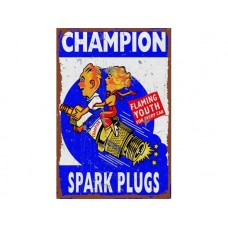 Champion Youth Large Tin Metal Sign