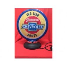 Petrol Bowser Globe and Base Chevrolet illuminated sign