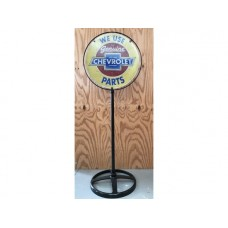 Chevrolet Lollypop Stand tin metal sign