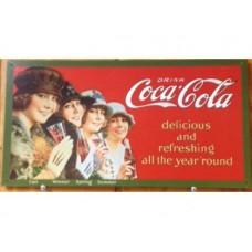 Coca Cola 4 Seasons tin metal sign