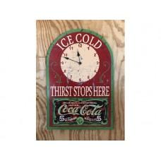 Coca Cola Clock tin metal sign