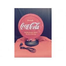 Petrol Bowser Globe and Base Coke illuminated sign