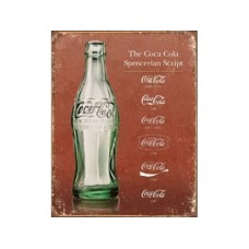Coke Script Heritage tin metal sign