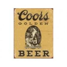 Coors Golden Vintage tin metal sign