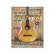 Country-Made in America tin metal sign
