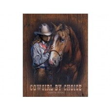Cowgirl by Choice tin metal sign