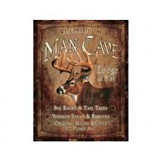 Man Cave Lodge tin metal sign