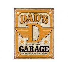 Dad's Garage tin metal sign