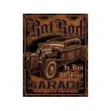 Rat Rod Garage tin metal sign
