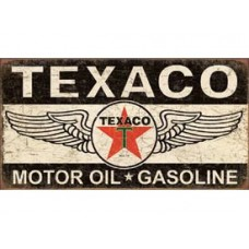 Texaco Winged Logo tin metal sign