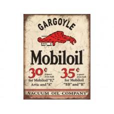 Mobile Oil Gargoyle tin metal sign