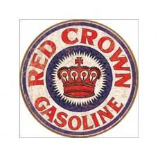 Red Crown Gas tin metal sign