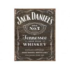 Jack Daniels Woodcut tin metal sign
