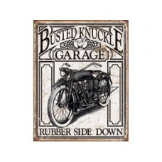 Busted Knuckle Vintage tin metal sign