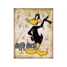 Daffy Duck tin metal sign