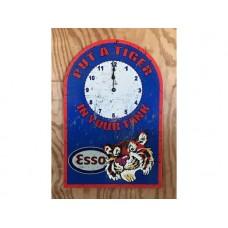 Esso Clock tin metal sign