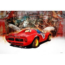 Ferrari SP206 tin metal sign