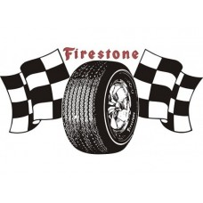 Firestone Flags tin metal sign