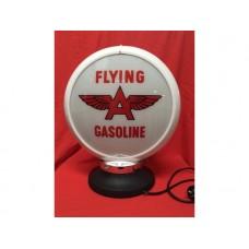 Petrol Bowser Globe and Base Flying A illuminated sign