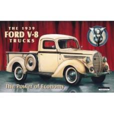 Ford 1939 Pickup tin metal sign