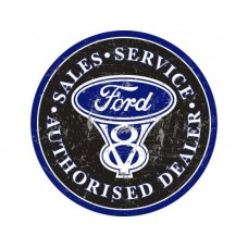 Ford Large Round tin metal sign