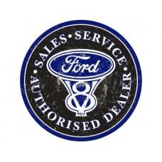 Ford Large Round tin metal sign