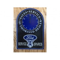 Ford Clock tin metal sign