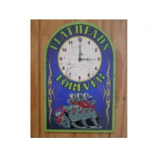 Ford Flathead Clock tin metal sign