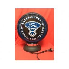Petrol Bowser Globe and Base Ford illuminated sign