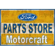 Ford Motocraft Parts Store tin metal sign