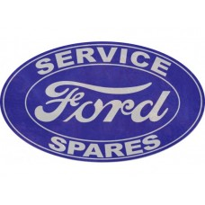 Ford Service and Spares lge oval tin metal sign