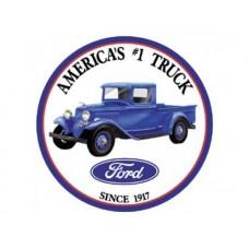 Ford Trucks Round tin metal sign