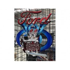 Ford V8 Flathead four piece tin metal sign
