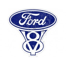 Ford V8 tin metal sign
