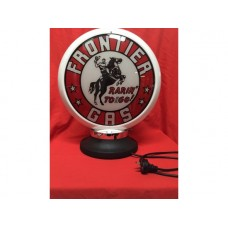 Petrol Bowser Globe and Base Frontier illuminated sign
