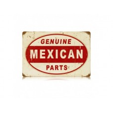 Genuine Mexican Parts tin metal sign