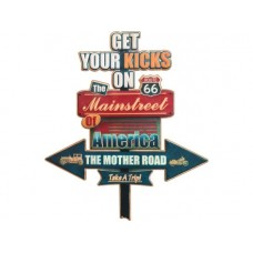 Get your kicks on Route 66 tin metal sign