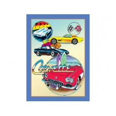 Corvette Collage tin metal sign