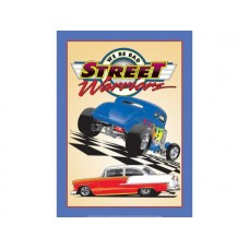 Street Warriors Hot Rods tin metal sign