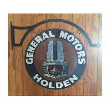 GMH Holden FX FJ Gold Grille Double sided round complete with hanger tin metal sign